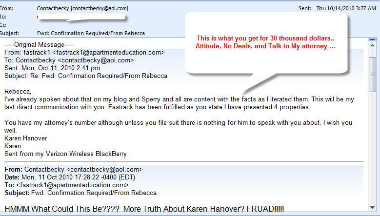 Karen-Hanover-Email-lack-of-service-proof